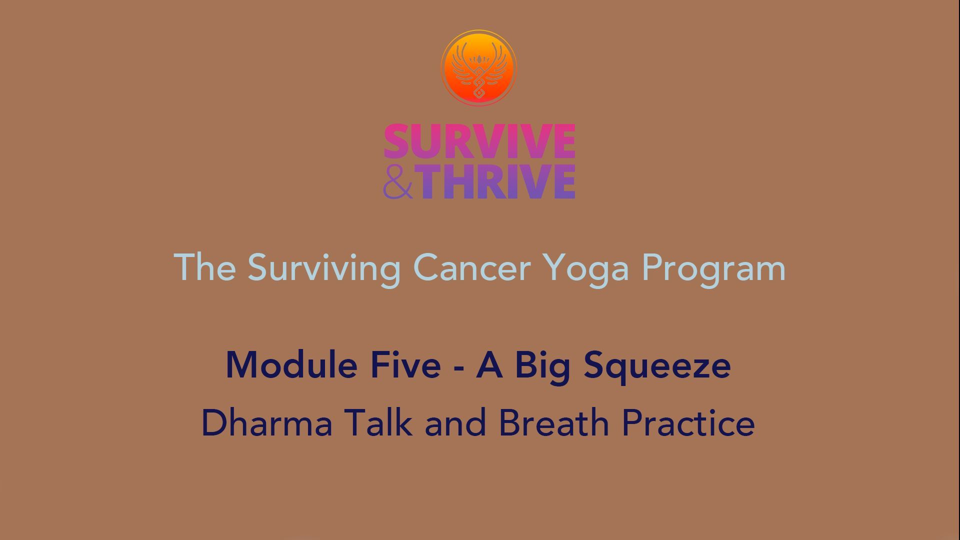 SURVIVE AND THRIVE | MODULE 5 - A BIG SQUEEZE | DHARMA TALK