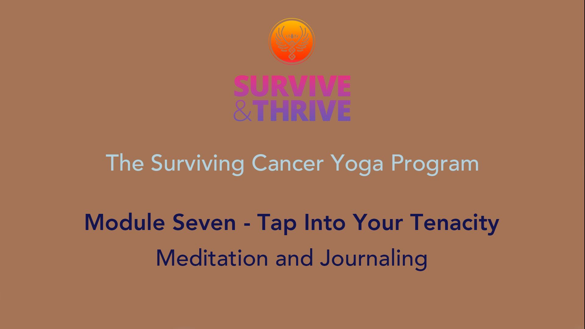 SURVIVE AND THRIVE | MODULE 7 - TAP INTO YOUR TENACITY | MEDITATION