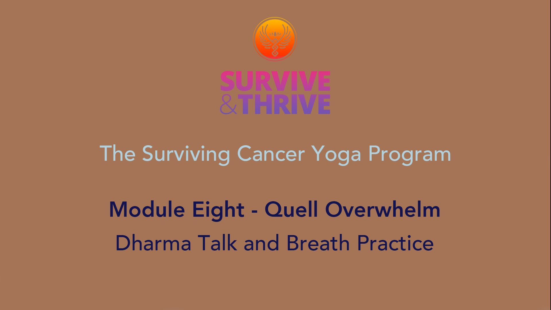 SURVIVE AND THRIVE | MODULE 8 - QUELL OVERWHELM | DHARMA TALK