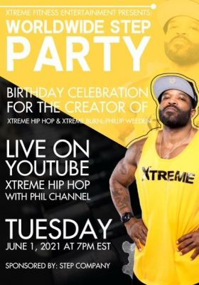 Phil's 41st Birthday Xtreme Hip Hop Step Party